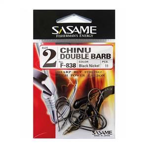 Sasame Chinu F-838 Serisi Double Barb Olta İğnesi